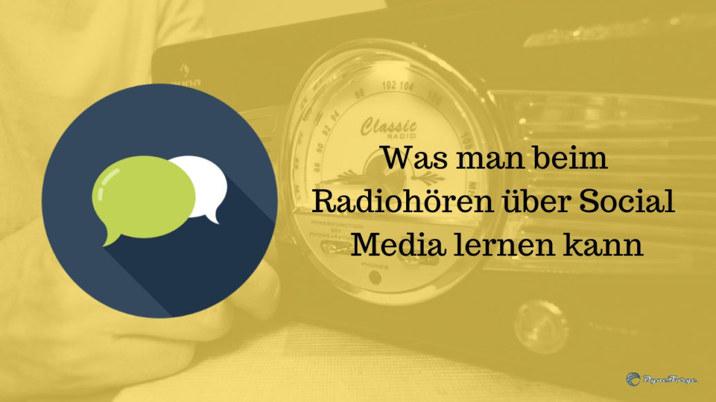 Was man beim Radiohören über Social Media lernen kann