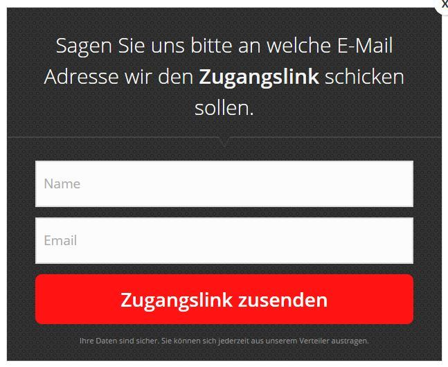 Opt-In Formular E-Mail Marketing