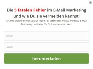 Gute E-Mail Opt-Ins