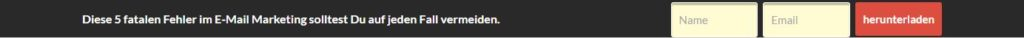 Hellobar Opt-In Formular