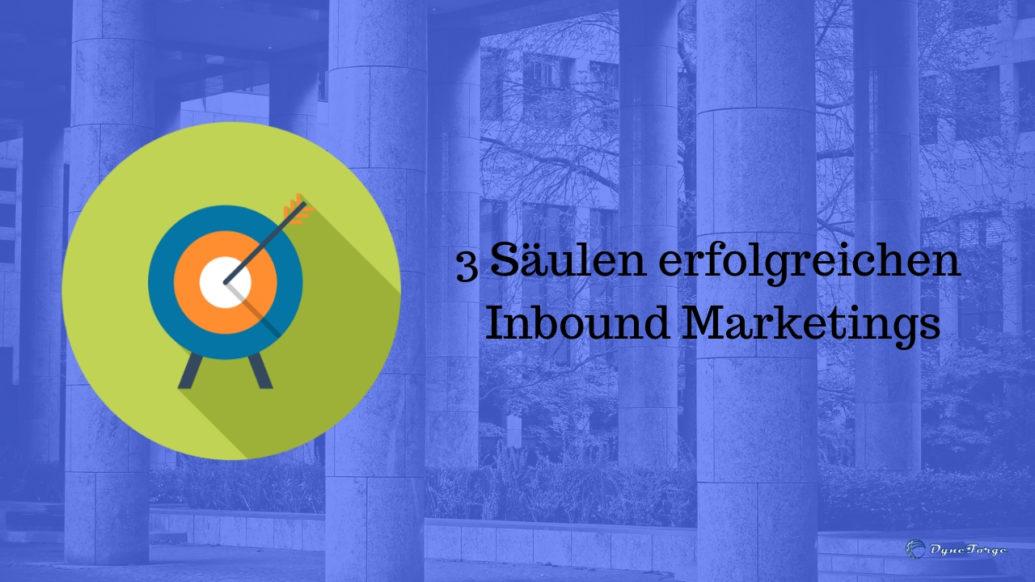 3 Säulen erfolgreichen Inbound Marketings