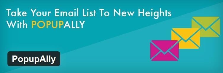 Die 3 besten E-Mail Opt-In Plugins für WordPress - PopUpAlly - Logo