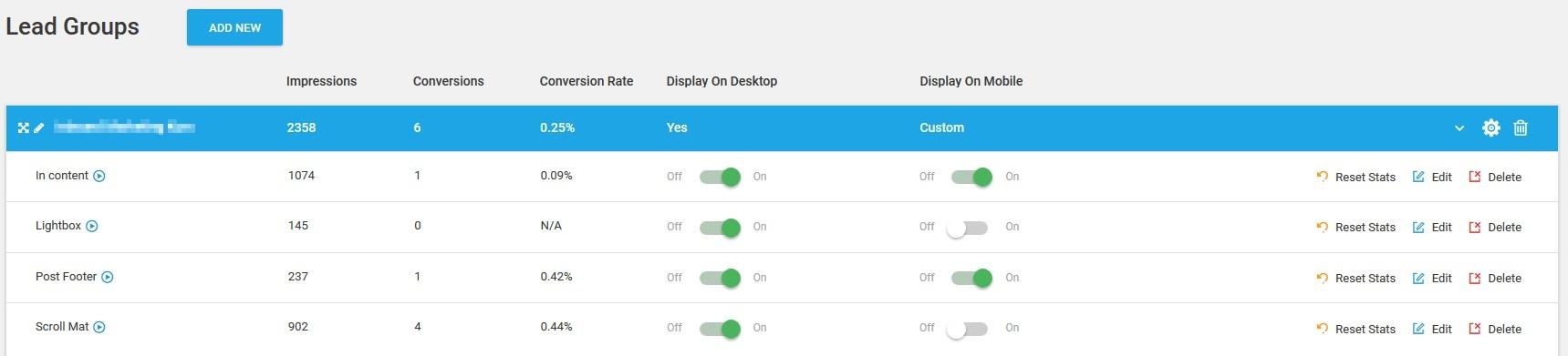 Die 3 besten E-Mail Opt-In Plugins für WordPress - ThriveLeads - 1 Thrive Lead Groups