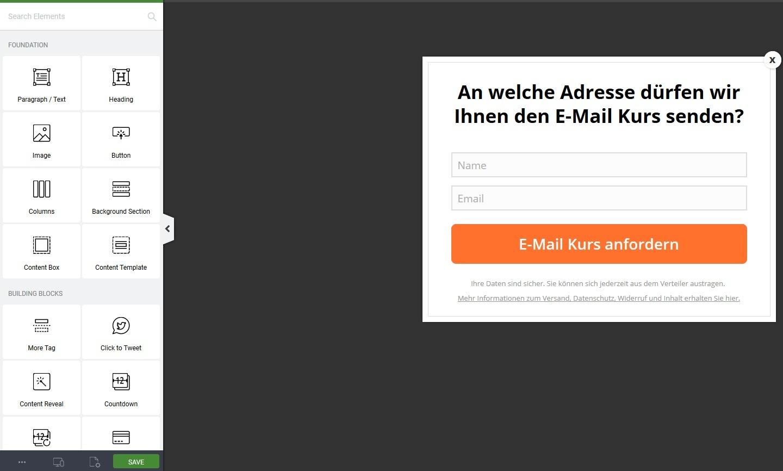 Die 3 besten E-Mail Opt-In Plugins für WordPress - ThriveLeads - 2 Thrive Boxes Edit
