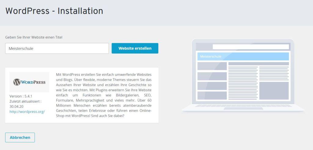 Ist Ionos für WordPress geeignet - WordPress Installation